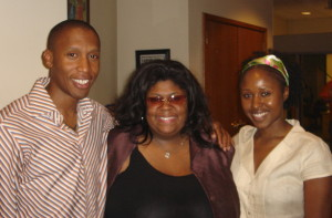 With the amazing Raphael Saadiq and Kim Burrell, fighting my shyness for the  sake of the music.
