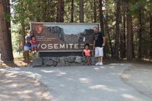 Our family at Yosemite National Park